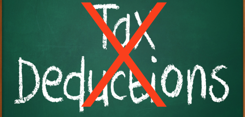 No tax deductions if you don't meet your tax obligations