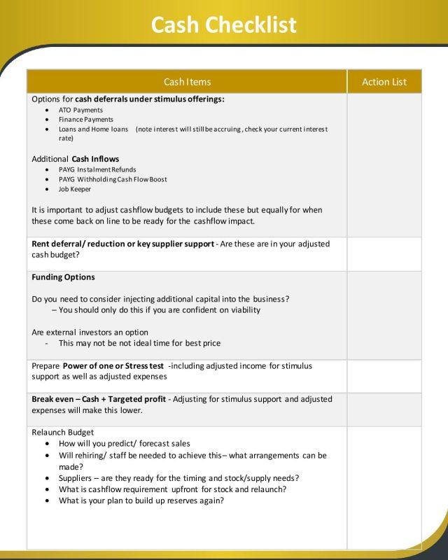 Cash Checklist Page 001