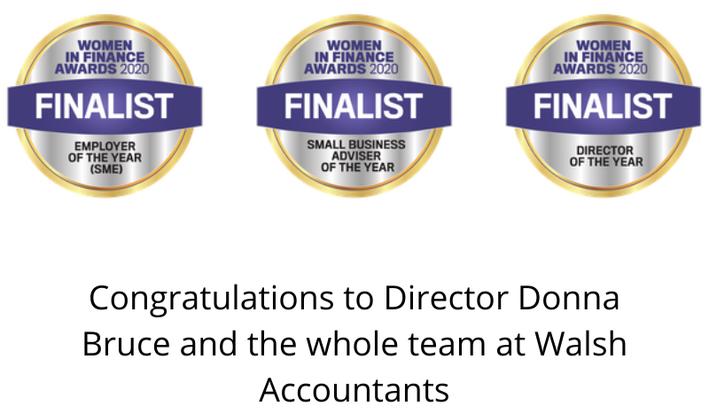 Walsh Accountants & Director Donna Bruce – Finalist in this years 'Woman In Finance Awards'